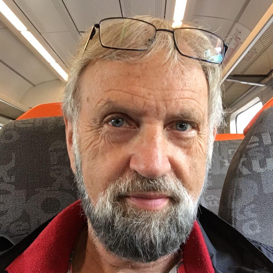Torbjørn Færøvik på togtur