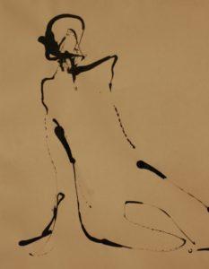 Skulptør Tove Hirth tegner også samtidsdansere