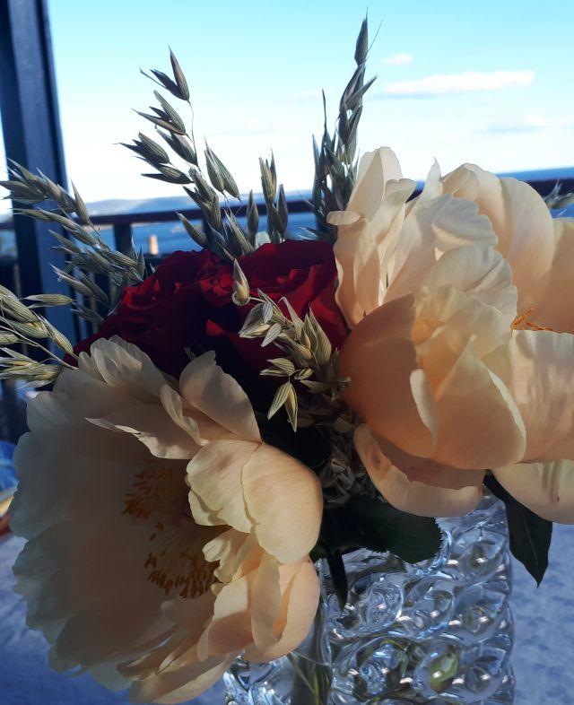 Blomster og utsiktweb
